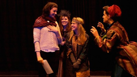 Artistic Director Noeline Kavanagh with NUI Galway students in rehearsal 2013