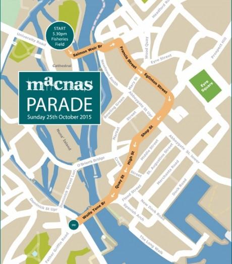 Macnas Halloween Parade Route Map
