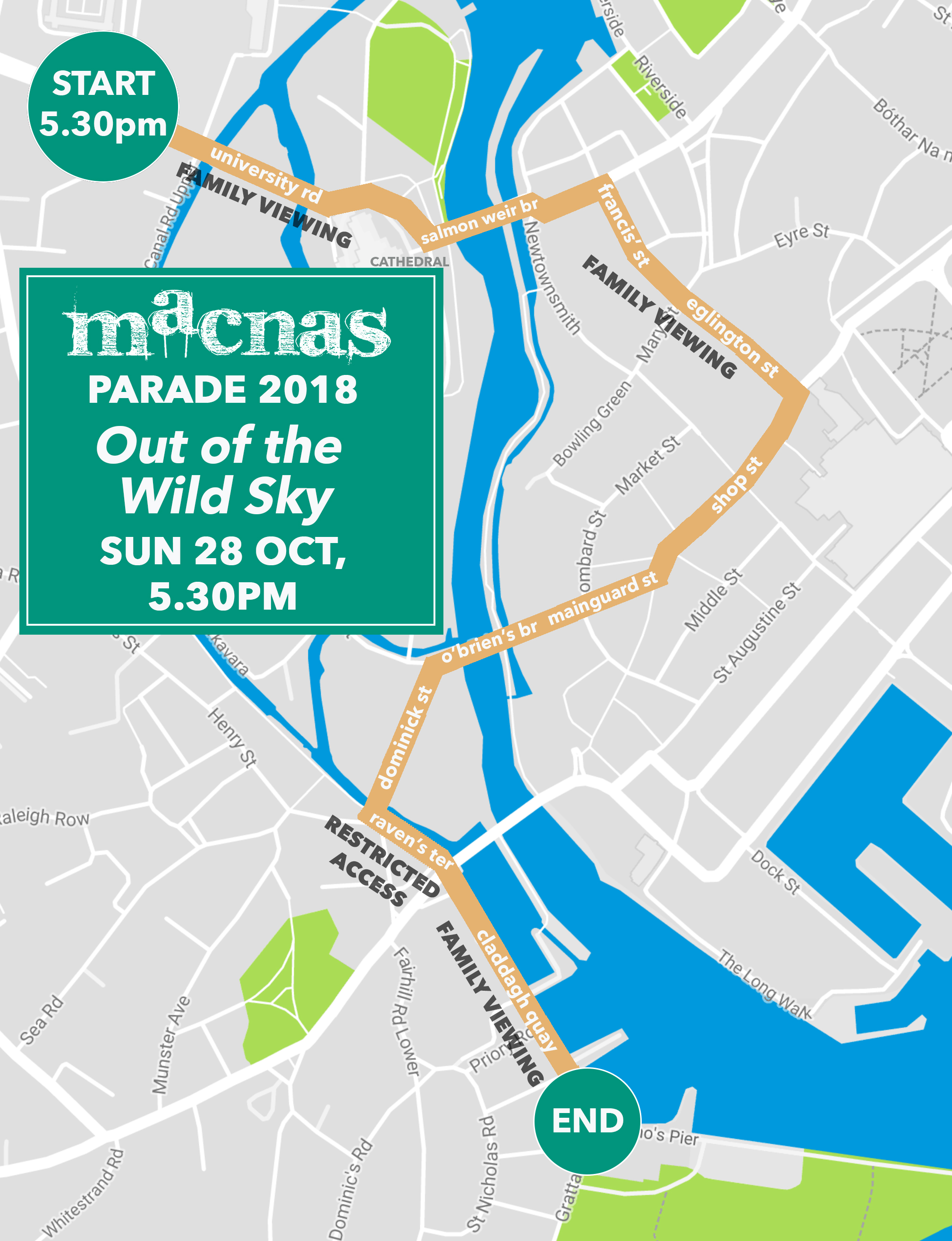 Galway and Dublin 2018 Parade Route Announced | Macnas – Spectacle on